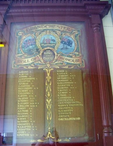 Grandchester Roll of Honour