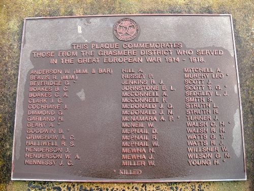 Grassmere War Memorial : 16-July-2011