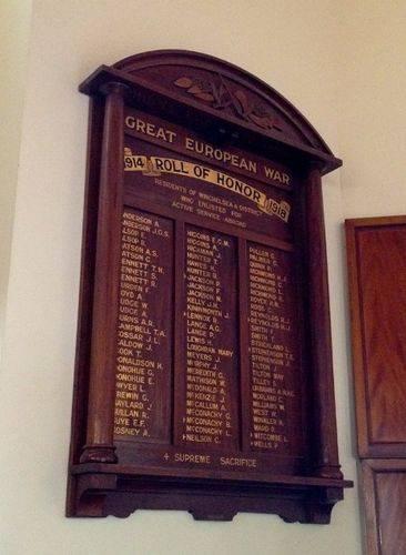 Great European War Honour Roll : November 2013