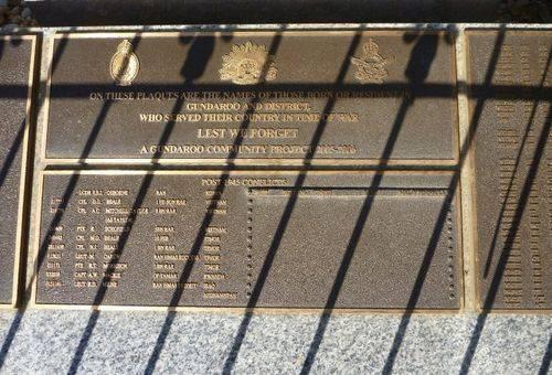 Gundaroo War Memorial : 25-April-2011