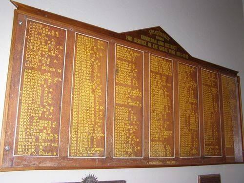 Gunnedah Honour Roll : 16-August-2014