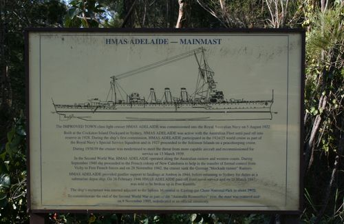 HMAS Adelaide Plaque : 7-August-2014