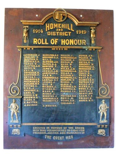 Home Hill and District Roll of Honour : 25-April-2011