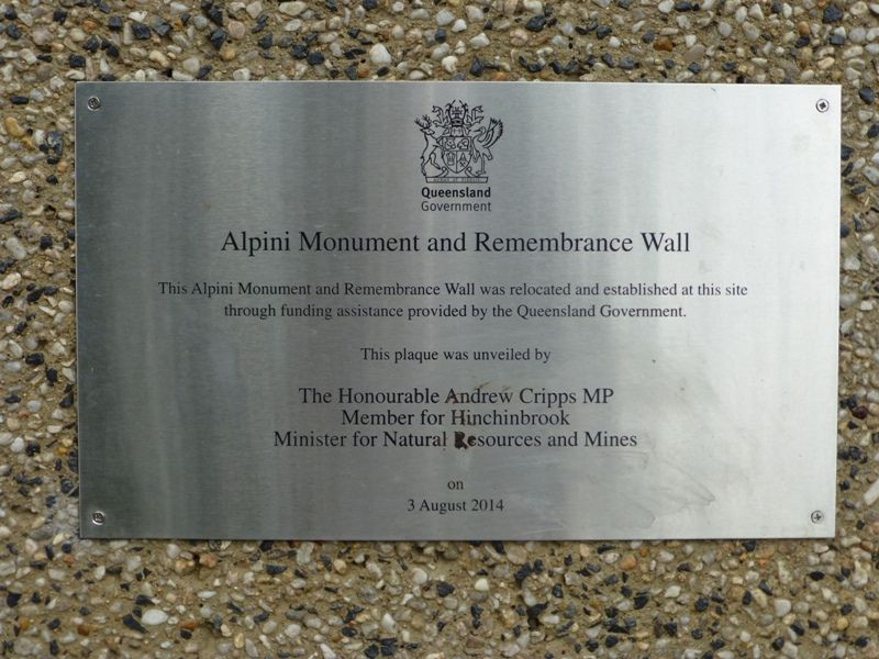 Dedication Plaque : 19-October-2014