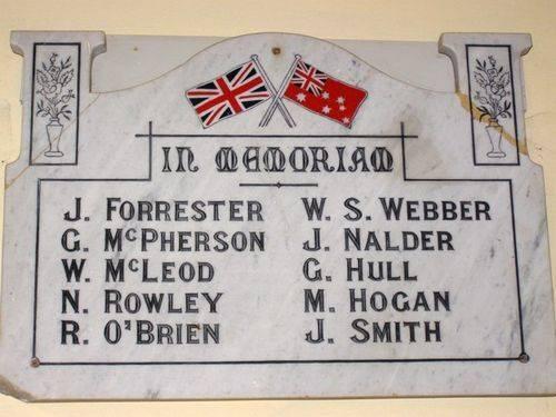 In Memoriam Honour Roll : 07-04-2014