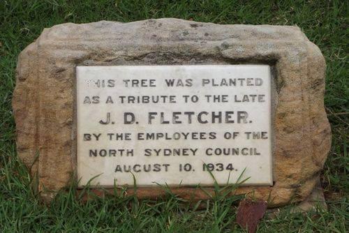 J.D. Fletcher Plaque Inscription : Feb 2014
