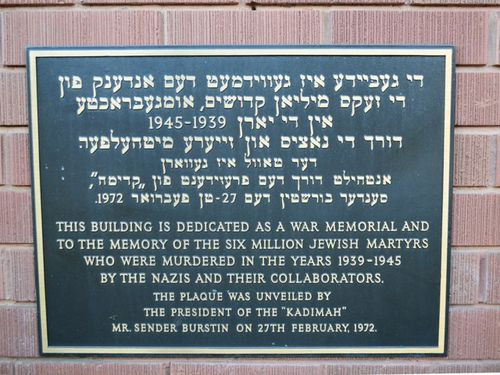 Jewish Victims of WW2 Plaque : 16-02-2014