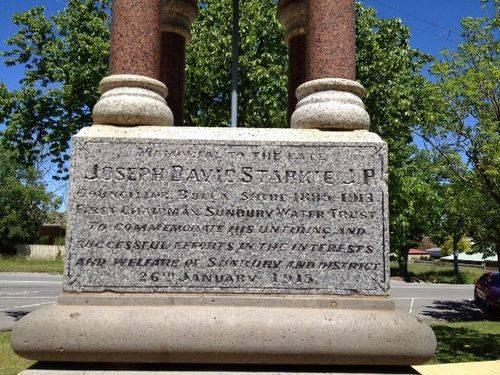 Memorial Fountain Inscription : November 2013