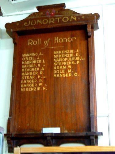 Junorten Roll of Honour 08 Nov 2009