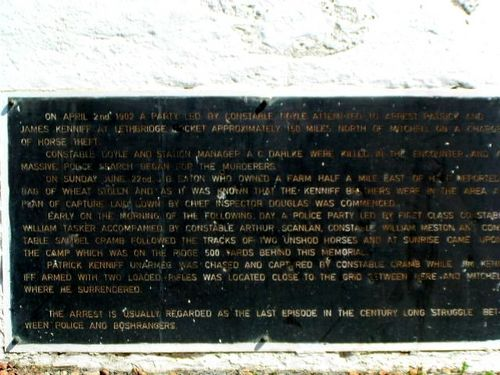 Kenniff Capture Plaque