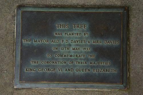Coronation Tree Plaque : June 2014