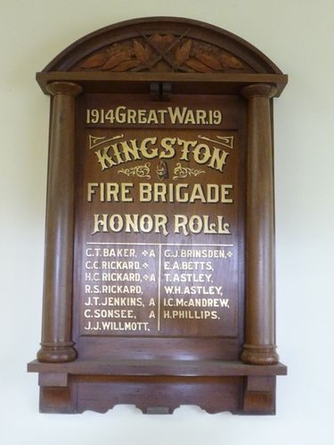 Kingston Fire Brigade Honour Roll