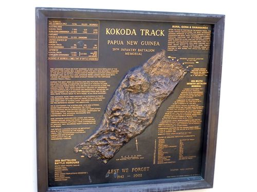 Kokoda Track Memorial Plaque : 27-05-2014