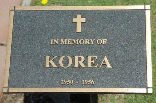 Korean Memorial Plaque : June 2014