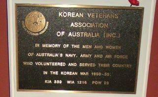 Korean Veterans Association Plaque