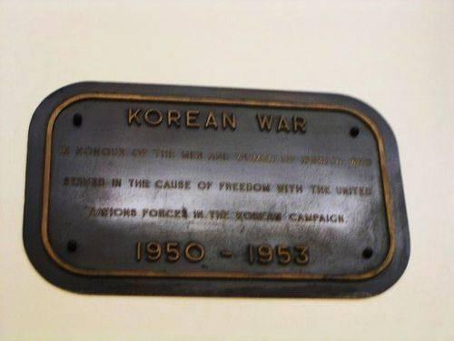 Korean War Plaque