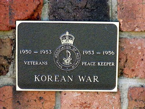 Korean War Plaque