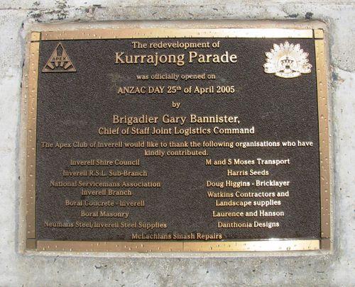 Kurrajong Memorial : 30-December-2009
