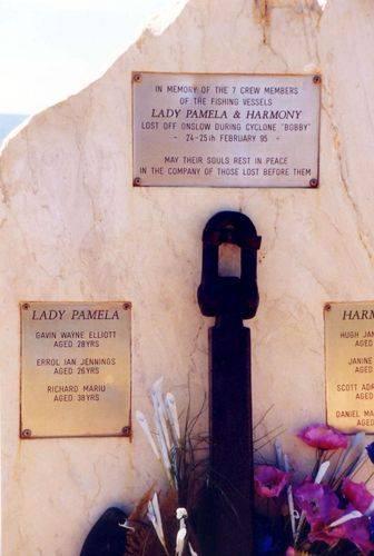 Lady Pamela + Harmony Memorial closeup