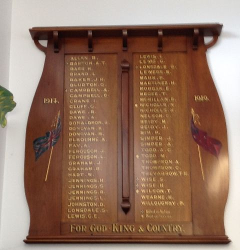 Linton Honour Board WW1 : November 2013