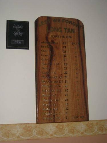 Long Tan Honour Roll : 29-06-2009