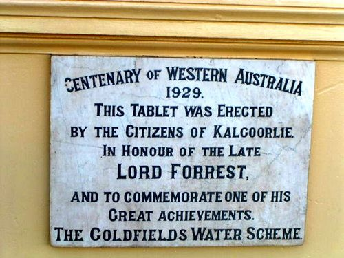 Lord Forrest Plaque