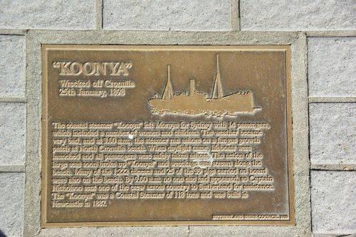 Lost Trading Vessel Koonya Plaque