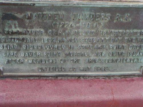 Matthew Flinders Plaque