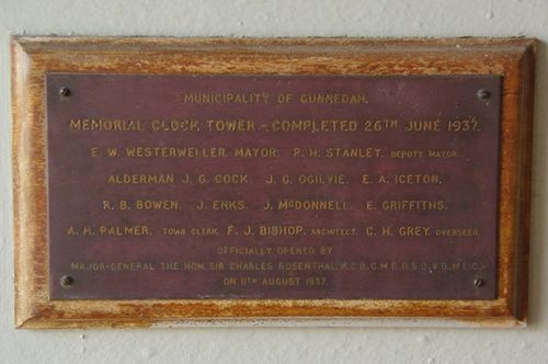Clock Tower Plaque : July 2014
