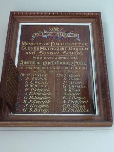 Methodist Church Roll of Honour : 21-March-2011
