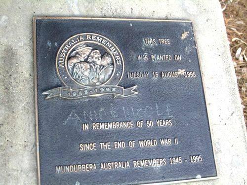 Mundubberra Australia Remembers Plaque : 21-08-2012