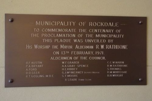 Municipality of Rockdale Centenary : 13-May-2014