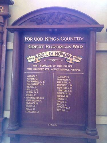 Musk State School Honour Board : October 2013