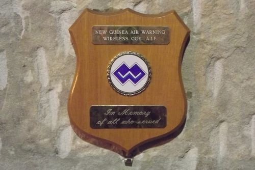 New Guinea Air Warning Wireless Coy Plaque : March 2014