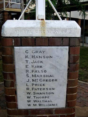 New Farm School War Memorial Back Insc :14-03-2010