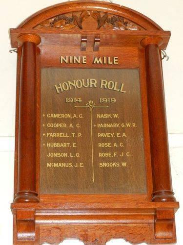 Nine Mile Honour Roll : 22-March-2013