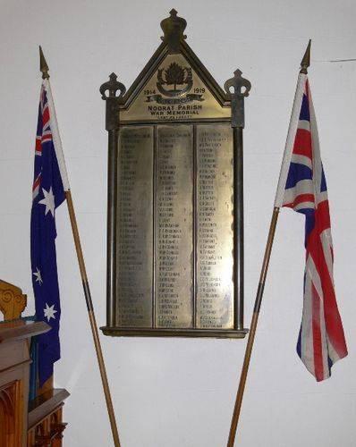 Noorat Parish War Memorial : 17-July-2011