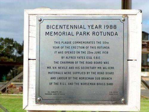 Norseman Rotunda Plaque