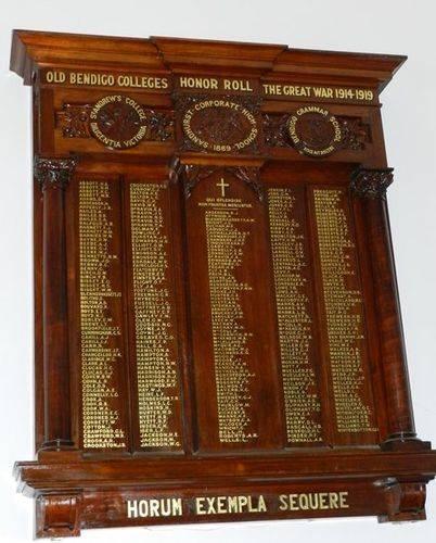 Old Bendigo Colleges Honour Roll : 18-June-2013