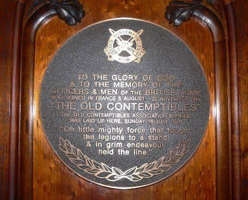 Old Contemptibles : 13-September-2011