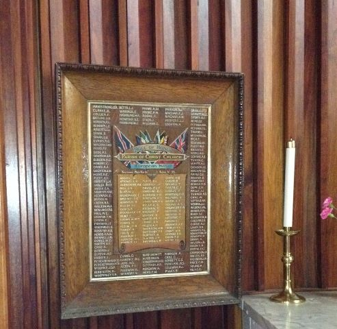 Christ Church Honour Roll : November 2013