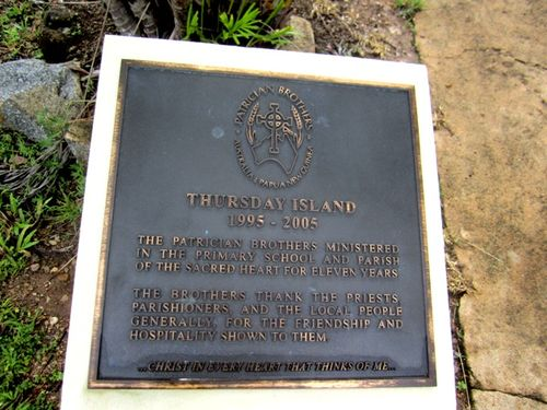Patrician Brothers Plaque/ May 2013