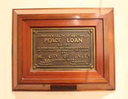 Peace Loan Plaque : 06-December-2012
