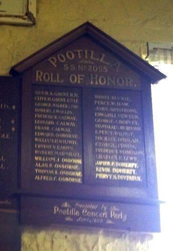 Pootilla S.S. Honour Roll : November 2013