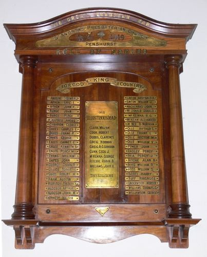 Presbyterian Church Honour Roll : 14-May-2013