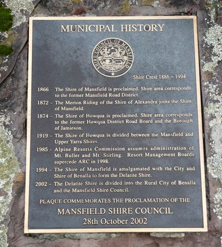 Proclamation of Shire of Mansfield : 17-June-2013