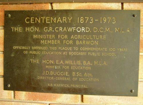 School Centenary 1873-1973 Plaque : 15-August-2014