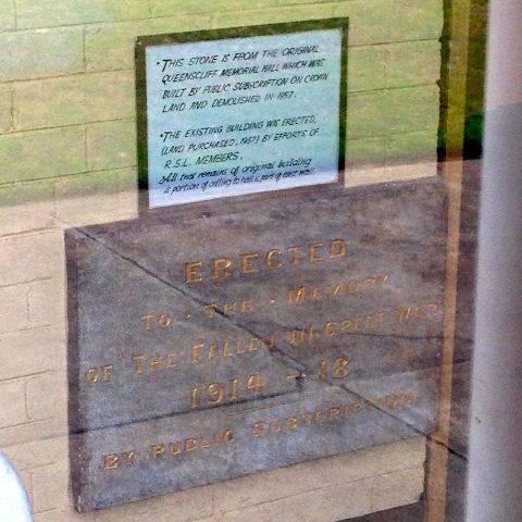Queenscliff Memorial Tablet : December 2013