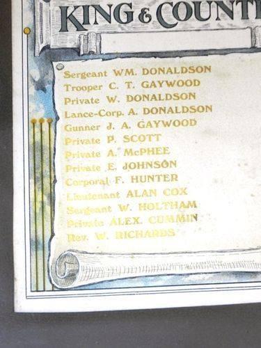 Raywood Methodist Sunday School Honour Roll : 11-March-2013