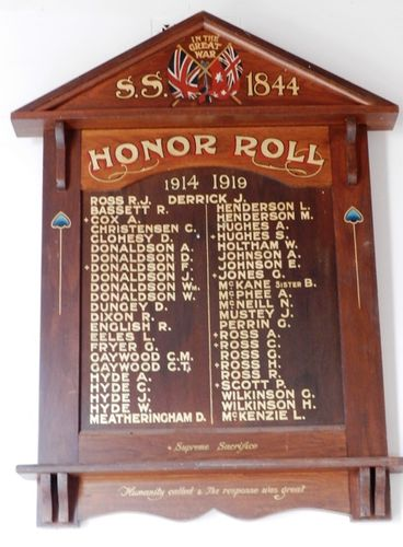 Raywood State School  No. 1844 Honour Roll : 11-March-2013